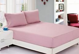 Простынь на резинке джерси розовая (С)